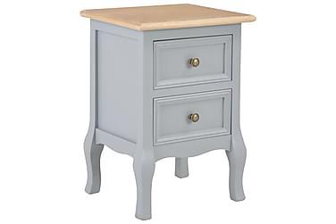 Nattduksbord grå 35x30x49 cm MDF