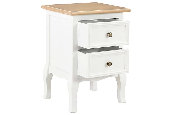 Nattduksbord vit 35x30x49 cm MDF - Möbler - Bord - Sängbord & nattduksbord