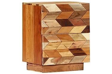 Sängbord 40x30x50 cm massivt återvunnet trä