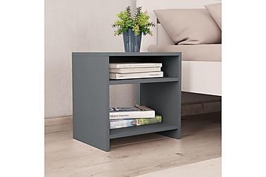 Sängbord grå 40x30x40 cm spånskiva