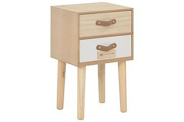 Sängbord med 2 lådor 30x25x49,5 cm massiv furu