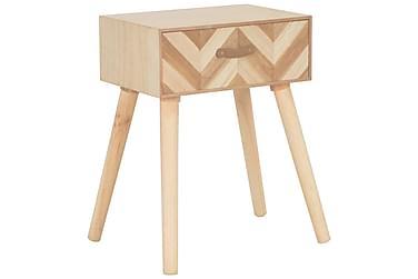 Sängbord med låda 44x30x58 cm massivt trä