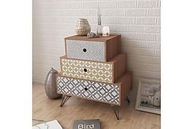 Shia Sängbord 3 Lådor 52x30 cm