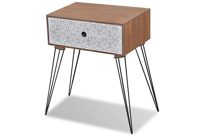 Shia Sängbord Låda 44x31 cm - Brun - Möbler - Bord - Sängbord & nattduksbord