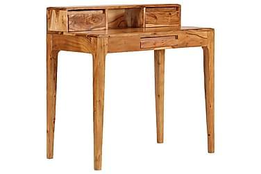 Skrivbord med lådor massivt trä 88x50x90 cm