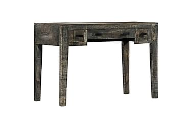 Skrivbord svart 110x50x75 cm massivt mangoträ