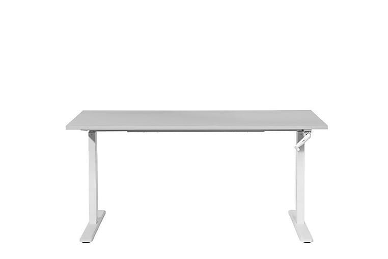 Traville Skrivbord 180 cm Manuelt Justerbart - Grå/Vit - Möbler - Bord - Skrivbord