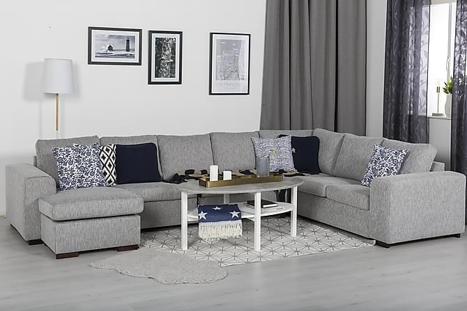 Ameli Soffbord 120 cm Ovalt - Grå/Vit - Möbler - Bord - Soffbord