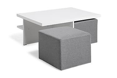 Boxy Soffbord 100 cm med 2 Pallar