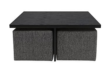 Boxy Soffbord 100 cm med 4 Pallar