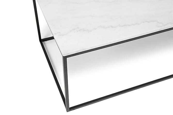 Carrie Soffbord 120 cm Marmor - Vit/Svart - Möbler - Bord - Soffbord