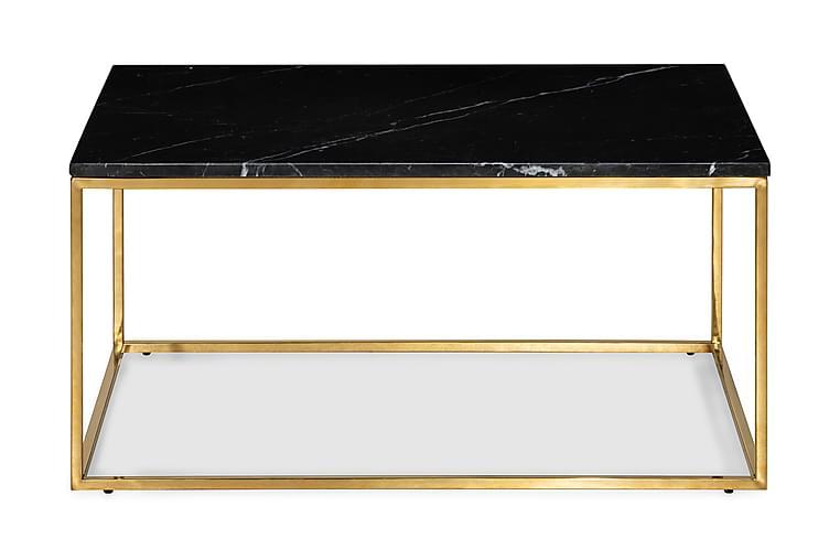 Carrie Soffbord 90 cm Marmor - Svart - Möbler - Bord - Soffbord