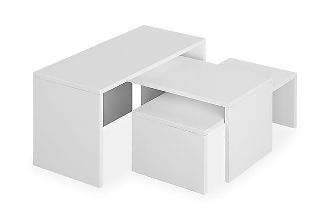 Decortie Soffbord Set om 3 - Vit - Möbler - Bord - Soffbord
