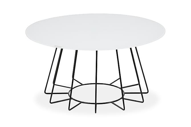 Edwina Soffbord 80 cm Runt - Vit/Svart - Möbler - Bord - Soffbord