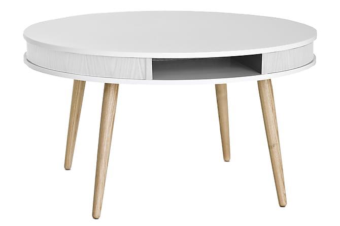Even Soffbord 90 cm - Vit/Ek - Möbler - Bord - Soffbord