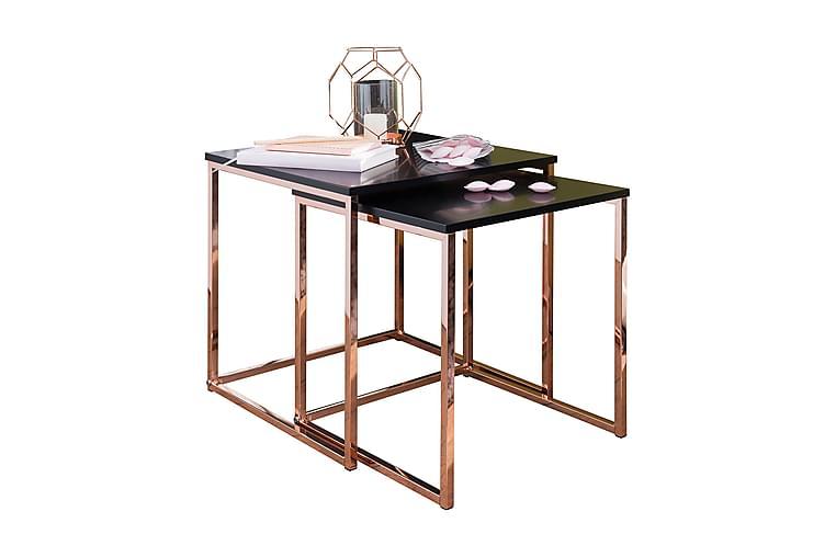 Geancarlo Satsbord 2-pack 48 cm - Koppar|Svart - Möbler - Bord - Soffbord