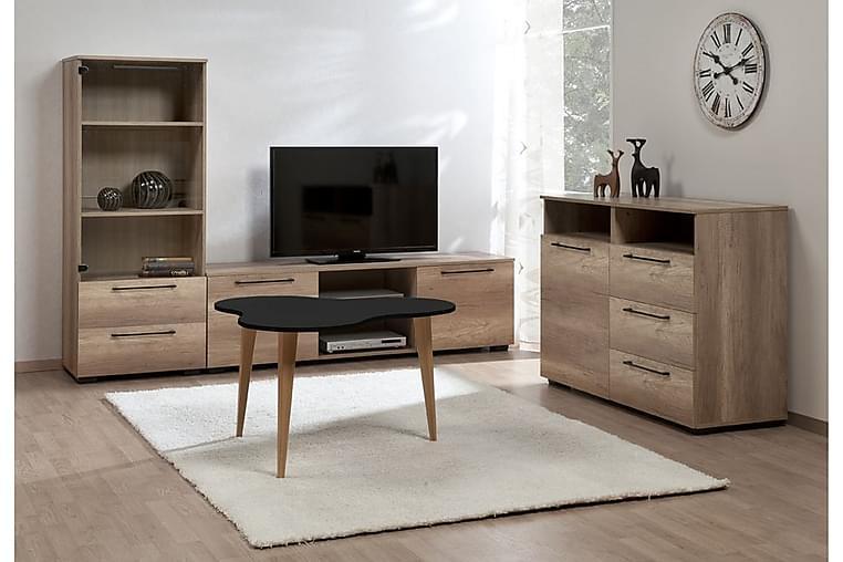 Hampus Soffbord 85 cm - Svart/Ek - Möbler - Bord - Soffbord