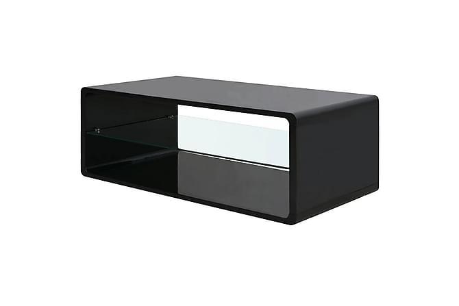 Inigo Soffbord 110x55 cm - Glas/Svart Högglans - Möbler - Bord - Soffbord