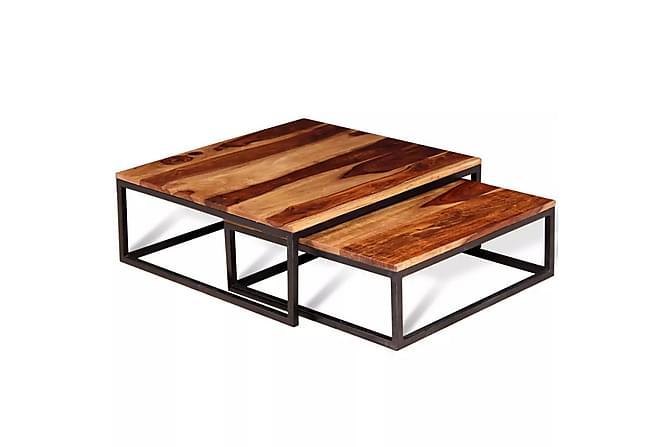 Kolinka Satsbord 70x70/60x60 cm - Sheshamträ - Möbler - Bord - Soffbord