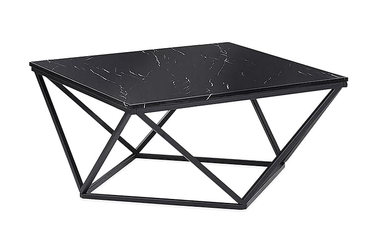 Kubsch Kaffebord Marmormönster - Svart - Möbler - Bord - Soffbord