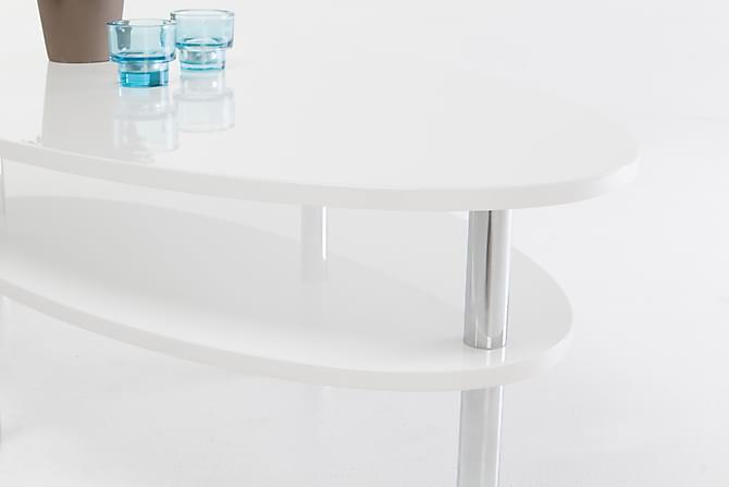 Lipp Soffbord 140 cm Ovalt - Vit - Möbler - Bord - Soffbord