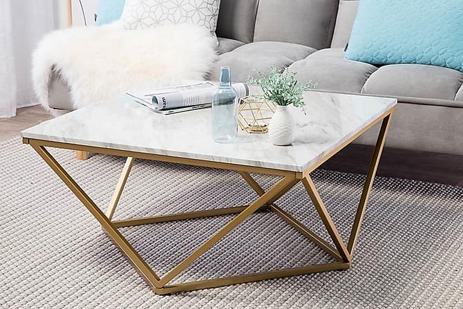 Malibu Soffbord 80 cm - Vit - Möbler - Bord - Soffbord