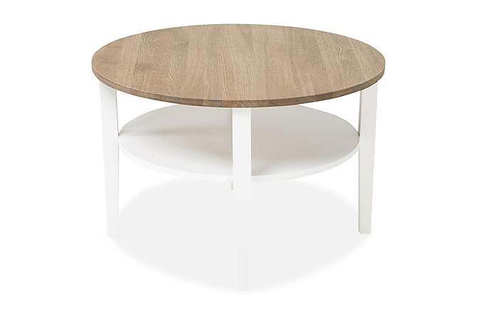 Mantorp Soffbord 80 cm Runt - Ek/Vit - Möbler - Bord - Soffbord