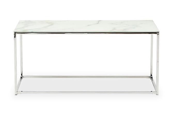 Nelly Soffbord 100 cm - Vit/Krom - Möbler - Bord - Soffbord