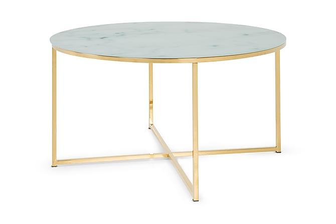 Nelly Soffbord 80 cm Runt - Marmorglas/Mässing - Möbler - Bord - Soffbord