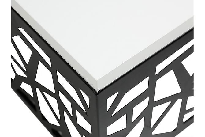 Palis Soffbord 60x60x45 cm - Svart|Vit - Möbler - Bord - Soffbord