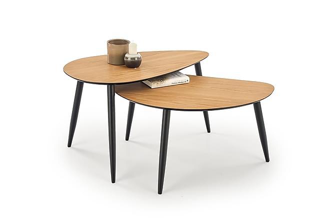 Percilla Satsbord 40/50 cm - Ek/Svart - Möbler - Bord - Soffbord