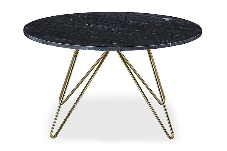 Ponza Soffbord 80 cm Runt Marmor - Grå/Mässing - Möbler - Bord - Soffbord