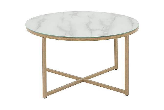 Raisa soffbord - Marmorglas 80 ø - Möbler - Bord - Soffbord
