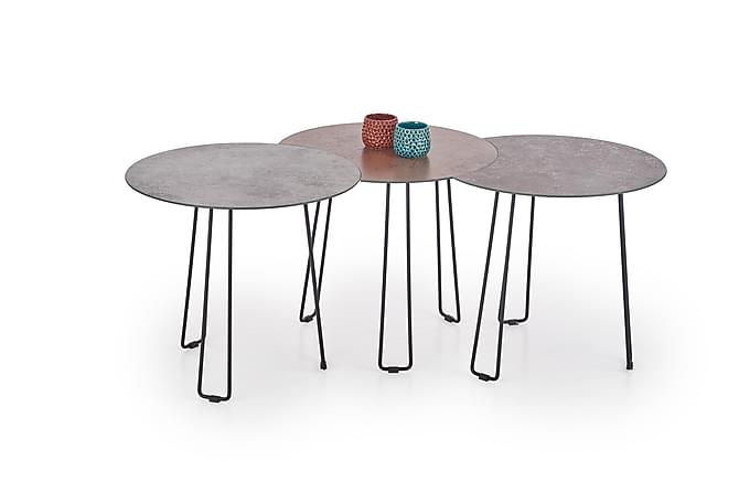 Settima Satsbord 50/50/35 cm - Brun/Grå/Svart - Möbler - Bord - Soffbord