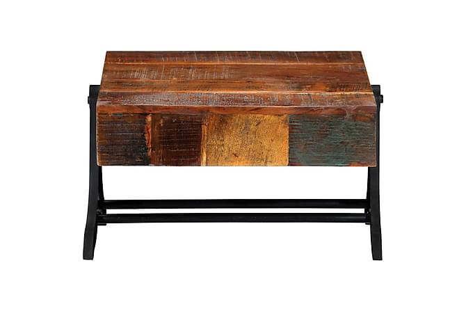 Soffbord 77x70x40 cm massivt återvunnet trä - Brun - Möbler - Bord - Soffbord