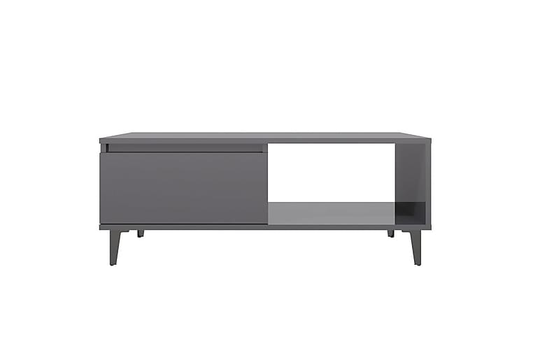 Soffbord grå högglans 90x60x35 cm spånskiva - Grå - Möbler - Bord - Soffbord