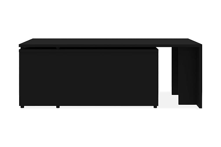 Soffbord svart 150x50x35 cm spånskiva - Svart - Möbler - Bord - Soffbord
