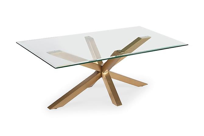 Split Soffbord 120 cm - Glas/Mässing - Möbler - Bord - Soffbord