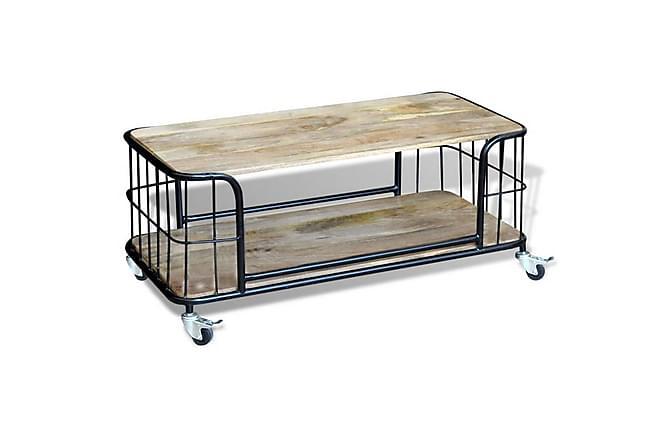 Steve Soffbord 100x50 cm - Mangoträ/Svart - Möbler - Bord - Soffbord
