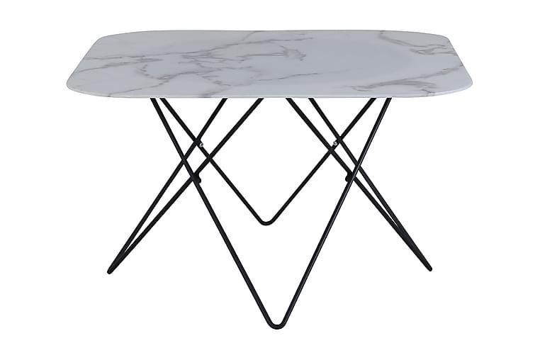 Tristar Soffbord 80 cm Vit/Svart - Möbler - Bord - Soffbord