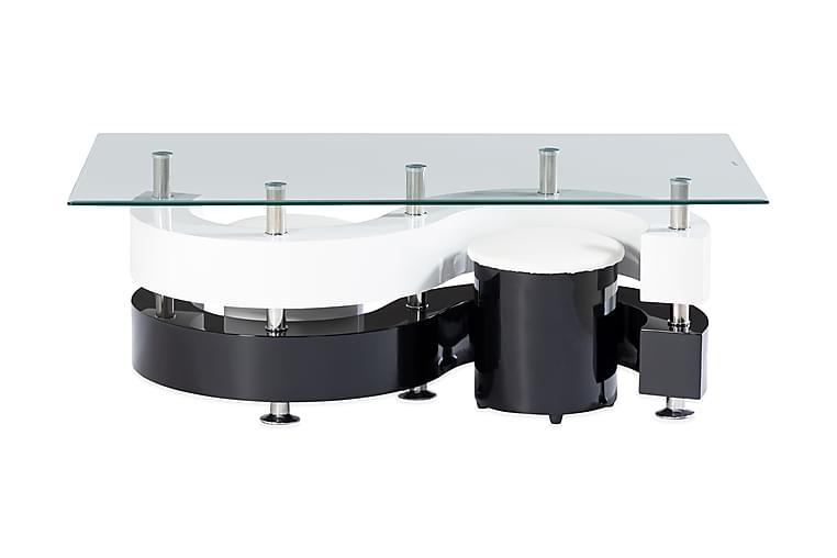 Turney Soffbord 130 cm - Vit/Svart - Möbler - Bord - Soffbord