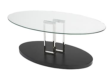 Velasca Soffbord 120 cm Glas |Transparent/Svart