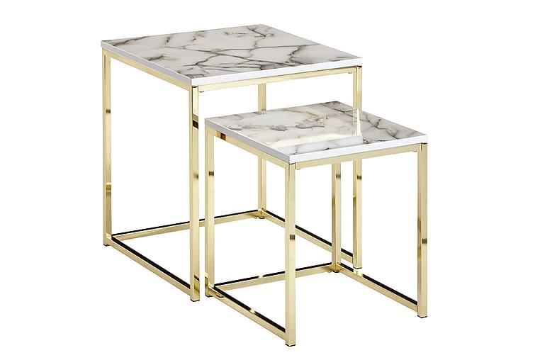 Willowdale Satsbord 45 cm - Vit/Grå/Guld - Möbler - Bord - Soffbord