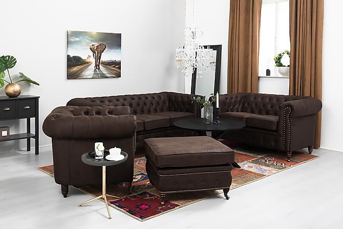 Chesterfield Deluxe Fåtölj Vintage - Mörkbrun - Möbler - Fåtöljer & fotpallar - Chesterfield fåtölj
