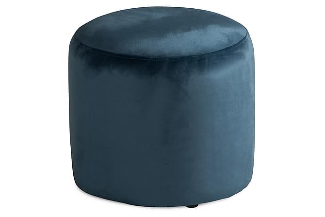 Aberto Sittpuff 40 cm Sammet - Jeansblå - Möbler - Fåtöljer & fotpallar - Fotpall