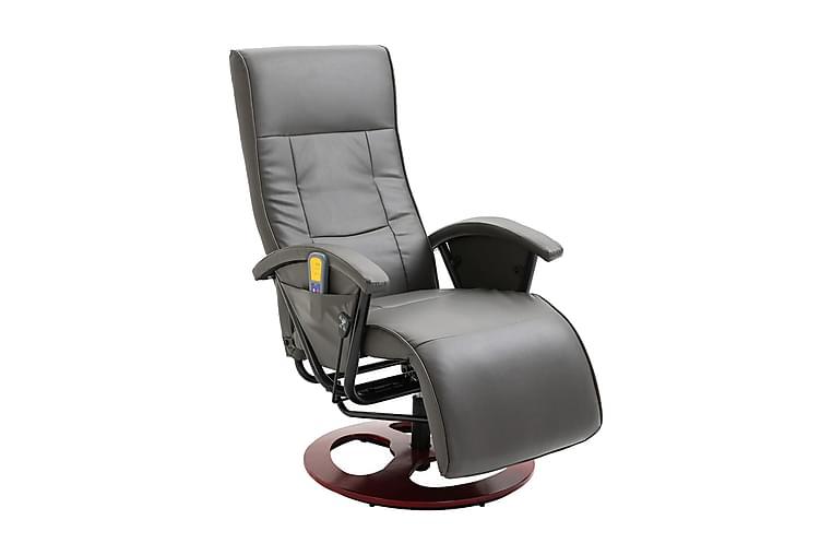 Massagestol konstläder grå - Grå - Möbler - Fåtöljer & fotpallar - Massagestol & massagefåtölj