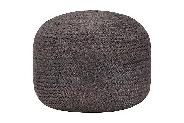 Handgjord sittpuff mörkgrå 45x30 cm jute - Grå - Möbler - Fåtöljer & fotpallar - Sittpuff