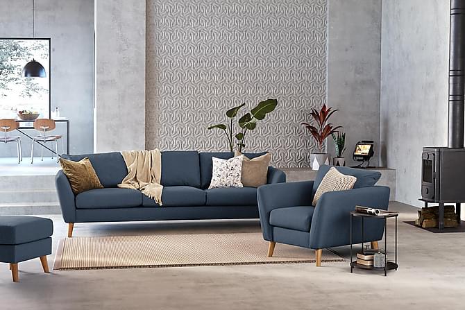Trend Fåtölj - Blå - Möbler - Fåtöljer & fotpallar - Fåtöljer
