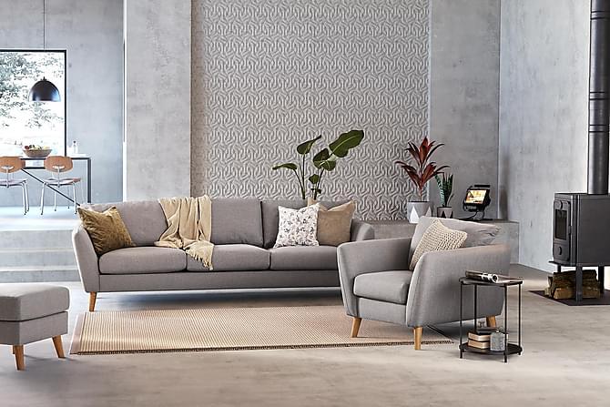 Trend Fåtölj - Ljusgrå - Möbler - Fåtöljer & fotpallar - Fåtöljer