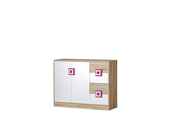 Nico Byrå 120x40x93 cm - Beige|Vit - Möbler - Förvaring - Byrå